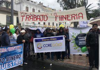 Core Gold participó en movilización
