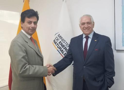 Fernando L. Benalcázar viceministro minas ecuador