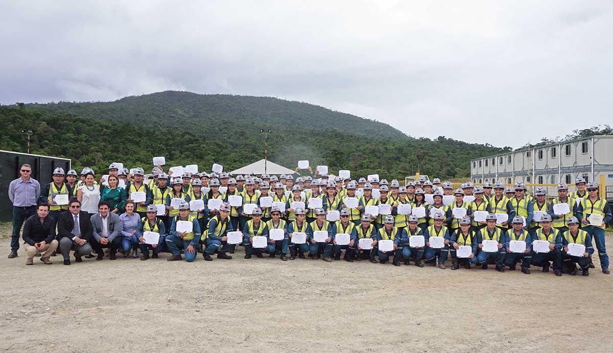 Programa de capacitación para operación minera gradúa a los primeros operadores