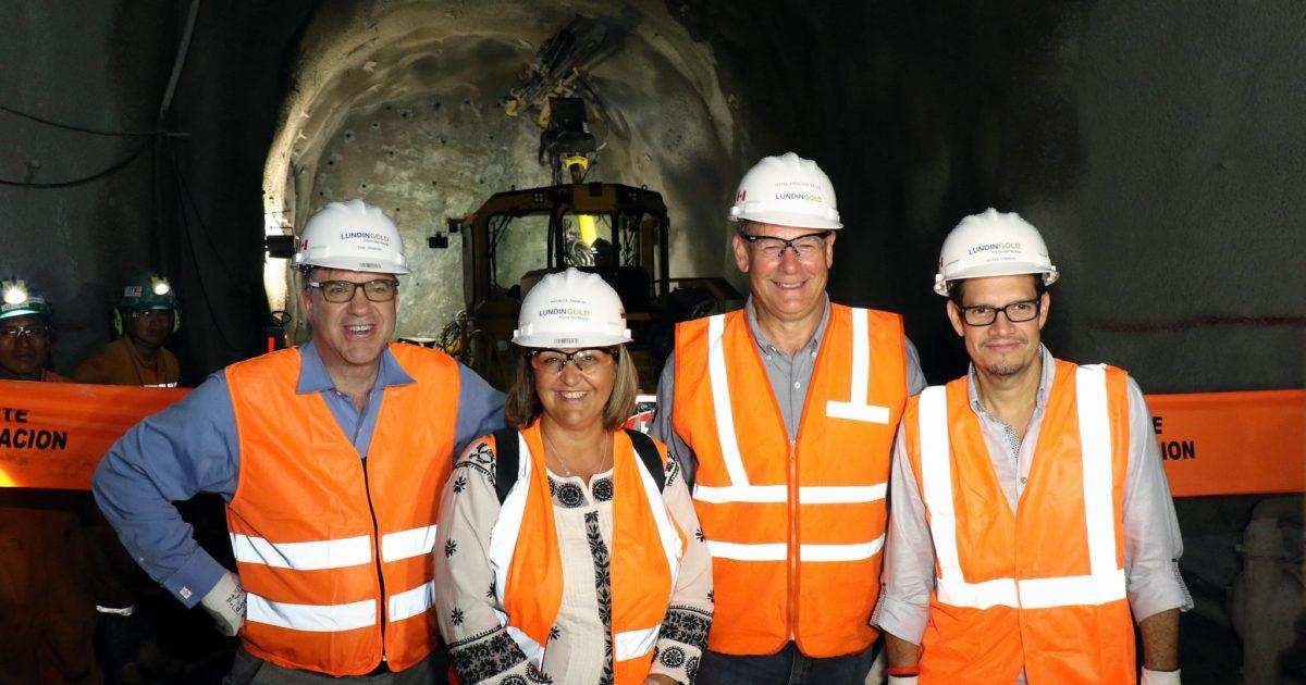 Inauguración de túneles del proyecto Fruta del Norte