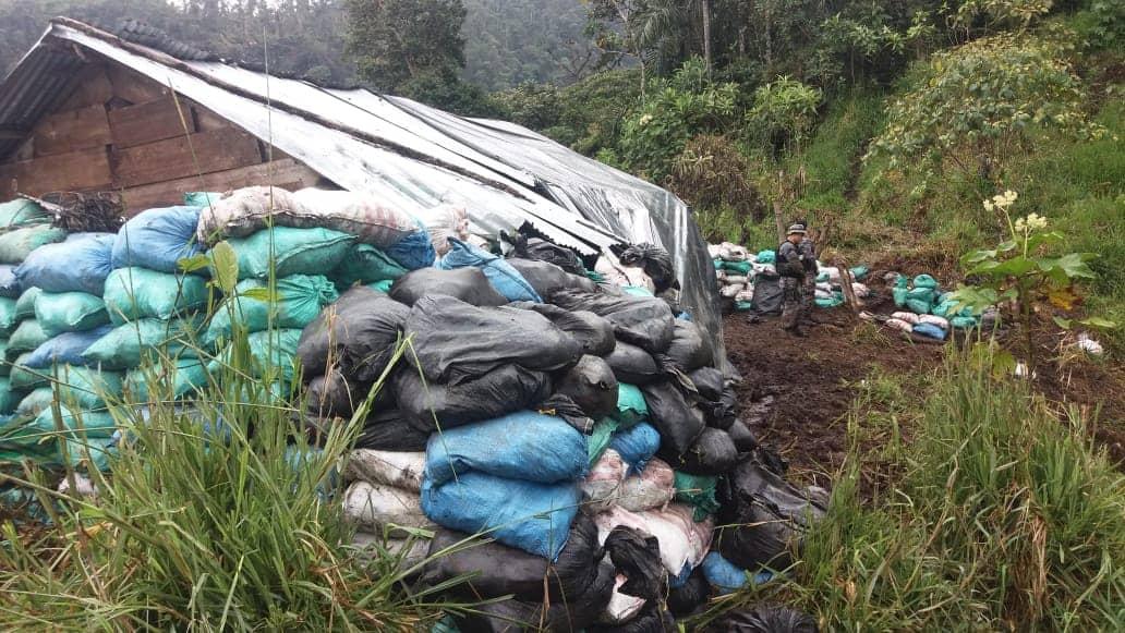 arcom incauta bultos mineria ilegal ecuador